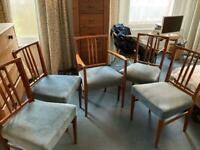 5 vintage G-plan style teak dining chairs