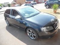 not breaking no spare or repair no damaged audi a3 2.0fsi 2004reg S-line leather interior R18 wheels