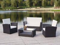 Brand New Luxurious 4 piece Rattan Garden / Conservatory Sets - RRP £600