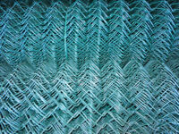 20 m of 1.8m high 2.25 - 3.15 heavy duty green plastic coated chain link fencing