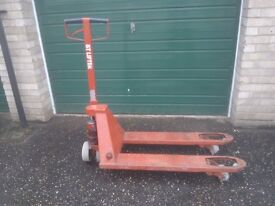 Pallet truck good working order clean and tidy no longer required