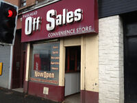Off Sales Shop Premises Available To Rent/May Sell