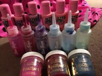 Multi Coloured HAIR DYE- 15 bottles. Varying colours. Semi Permanent! Directions, Crazy Colour
