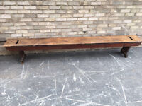 SCHOOL BENCH CANTEEN EXTRA LONG INDUSTRIAL SOLID WOOD