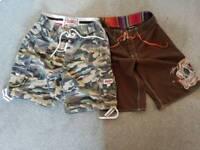 Men's Superdry and billabong board shorts W34