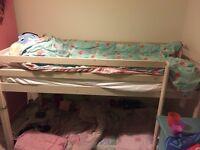 High sleeper bed and mattress