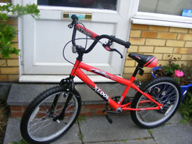 "BOYS 20"" WHEEL BMX STYLE BIKE IN GREAT WORKING ORDER AGE 7+"