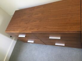 Dwell walnut chest of drawers/tv stand/sideboard