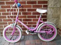 """Pink Barbie Girl's Bike, 14"""" wheels"""