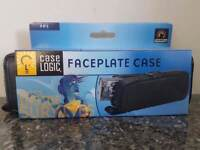 Leather car stereo fascia case, for face off stereo front.