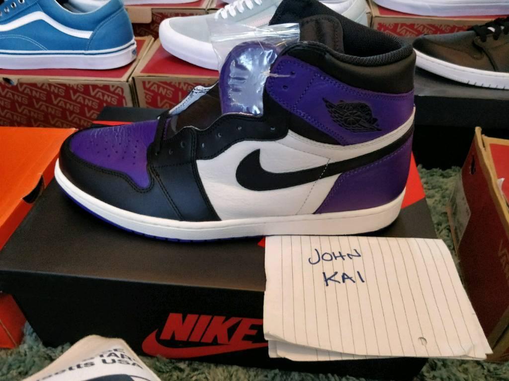 e332866384a126 Nike Air Jordan 1 Court Purple UK12 DS BNIB