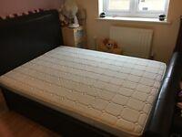 Ottoman storage bed and mattress