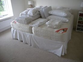 Superking zip together single beds complete with duvets etc etc