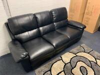 Pending delivery Black leather reclining sofa delivery 🚚 sofa suite couch furniture