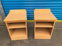Set of beechwood bedside cabinets