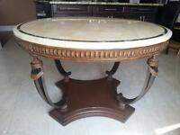 Marble Wood Dining / Kitchen Table with 4 Chairs AND Sideboard