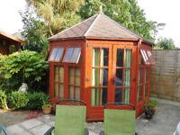 Octagonal garden cabin for quick sale