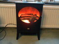 dimplex black log effect electric fire stove.