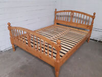 Lovely Ducal Pine king size bed with mattress. Can deliver locally