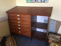 Drafters Table Drawing Table chest of drawers