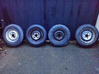 Vw t25 t3 steel wheels with tyres