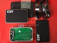 PAIR OF: CiT 2.5 inch empty hard drive enclosures. IDE or SATA. USB 2.