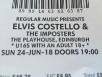 Elvis Costello & The Imposters Edinburgh Playhouse Tickets X3 (Sunday 24th June)