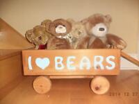Toy bears in wagon
