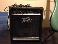 Peavey amp and Jay Turser bass guitar
