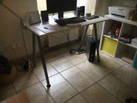 Desk White and Grey - THYGE IKea
