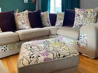 Large sofa cuddle chair & foot stool