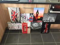 Huge London canvases (2 available)
