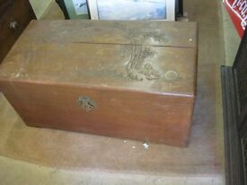 VINTAGE ORNATE 'CAMPHOR WOOD' STUNNING CHEST - TRUNK. VERSATILE LOCATION USAGE. VIEW/DELIVERY POSS