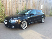 AUDI A3 + 2.0 TDI SPORT + 6 SPEED MANUAL + 5 DR BLACK + MODIFIED