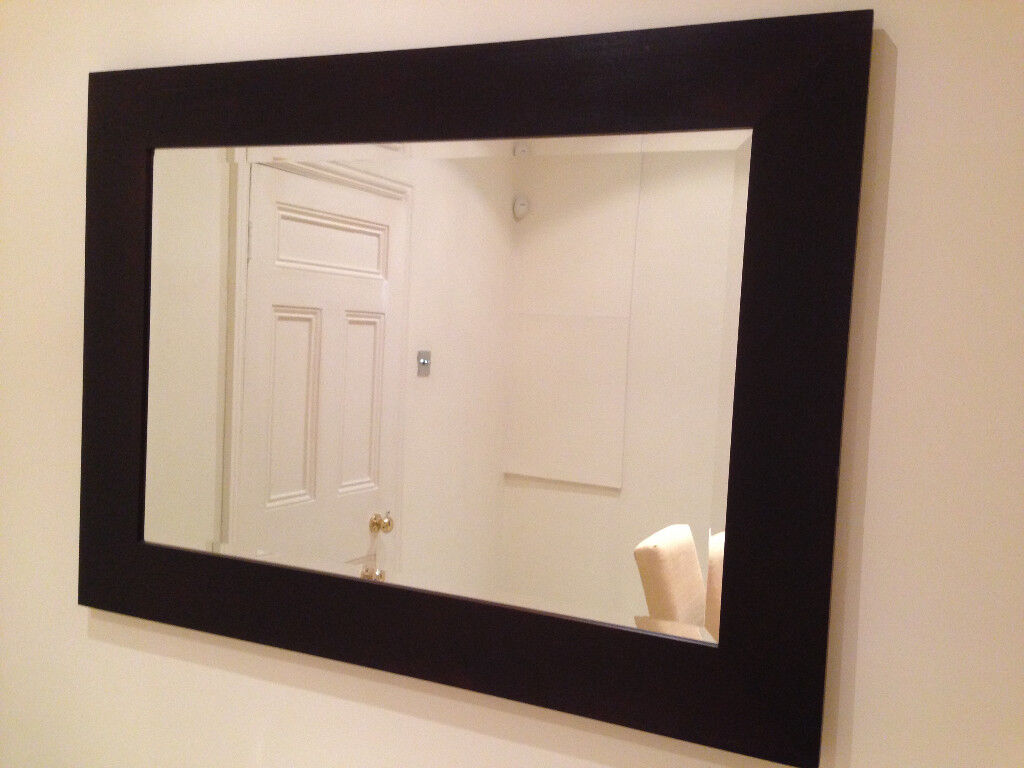 John Lewis Mirror with Expresso Brown Solid Wood