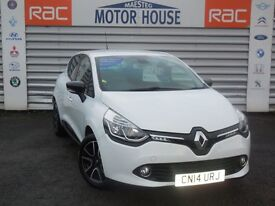 Renault Clio DYNAMIQUE (MEDIANAV) FREE MOT'S AS LONG AS YOU OWN THE CAR!!! (white) 2014
