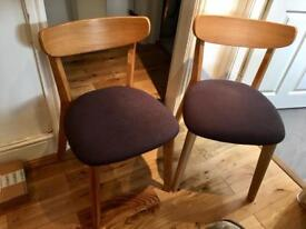 Two New John Lewis Dining Clio Chairs