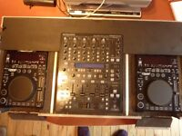 Double CD deck and Mixer Unit