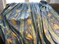 Curtains - double lined : 320 cm width and 220cm height x2 with matching braided ties