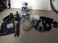 Almost New GoPro Hero 4 Black, complete Set of Accessories, and 64GB SD card