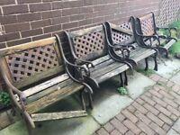 4 x Iron Garden Chairs