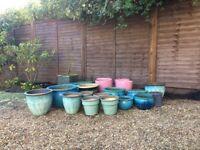 Garden pots for sale - good condition