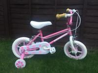 Girls mongoose first bike with stabilisers