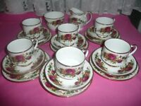 20 PIECE CHINA TEASET COUNTRY ROSES DESIGN