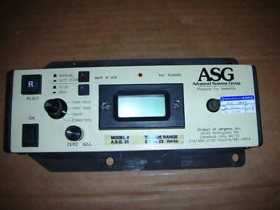 Asg Jergens Asg25 25in-lb 28.25 Dn.m 14 Digital Torque Tester Asg 25 Usa