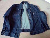 Stone Island denim jacket as new medium