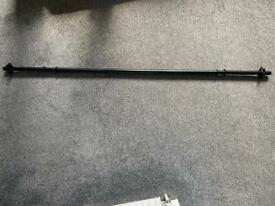 Cast iron barbell bar 153cm weight 5kgs with cast iron spin collars