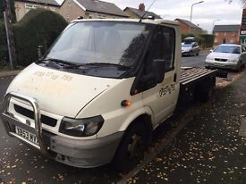 FORD TRANSIT 2003 RECOVERY TRUCK 2.4 TDDI 125 T350 LWB SPARES OR REPAIRS