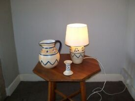 lamp jug and candle stick
