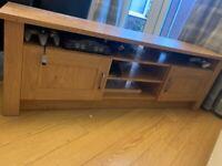 Argos oak effect TV unit